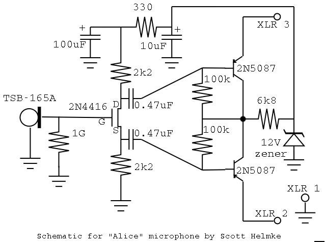 Typical Power Diagram together with Use Real Condenser Microphone Element Instead Of Electret Condenser Microphone as well Audio Xlr Wiring Diagram as well Microphone  lifier Using Op   741 further Shure Microphone Wiring Diagrams. on electret condenser microphone circuit